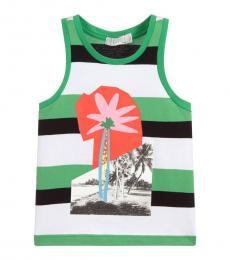Stella McCartney Little Girls Green Palm Tree Top