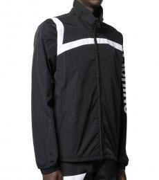 Black White Logo Zipper Jacket