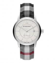 Burberry Silver Multi Horseferry Watch
