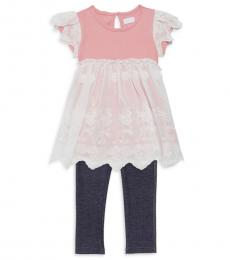 2 Piece Tunic/Leggings Set (Little Girls)