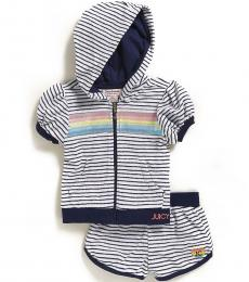 Juicy Couture 2 Piece Hoodie/Shorts Set (Little Girls)