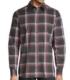 Calvin Klein Black Plaid Long-Sleeve Shirt