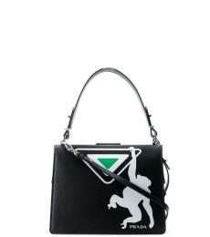 Black Graphic Small Satchel