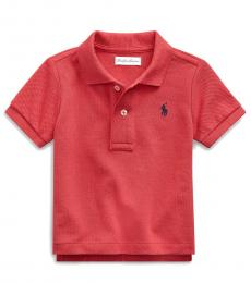 Baby Boys Sunrise Red Mesh Polo