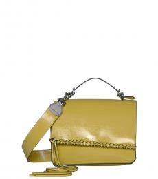 Yellow Fringe Glazed Medium Crossbody