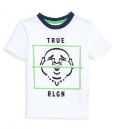 True Religion Little Boys White Buddha Box T-Shirt
