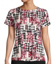 Karl Lagerfeld Soft Rose Printed Short-Sleeve Top