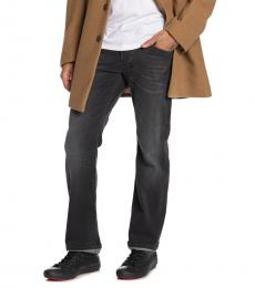 Dark Grey Larkee Straight Leg Jeans