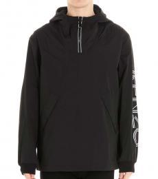 Black Sleeve Logo Jacket