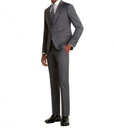 Dark Grey Two-Piece Wool Suit