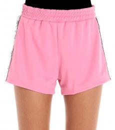 Chiara Ferragni Pink Logomania Shorts