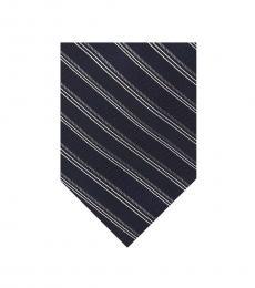 Michael Kors Navy Essential Satin Stripe Tie