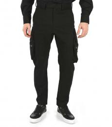 Black Stretch Cargo Pants