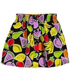 Girls Black Fruits Skirt