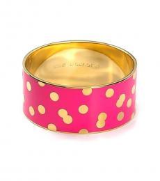 Kate Spade Pink Gold Dots Bracelet