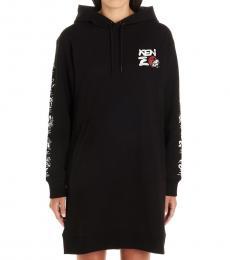 Kenzo Black  Logo Hooded Dress