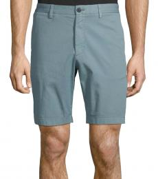 Teal Stretch-Cotton Shorts