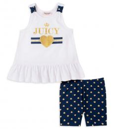 Juicy Couture 2 Piece Top/Shorts Set (Little Girls)