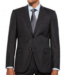 Dark Grey Wool Suit Jacket