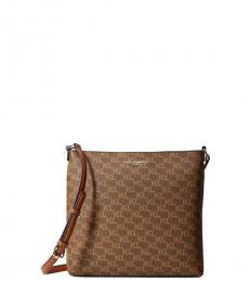 Karl Lagerfeld Brown/Khaki Suki Medium Crossbody