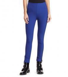 Rag And Bone Electric Blue Simone Zipper Trousers
