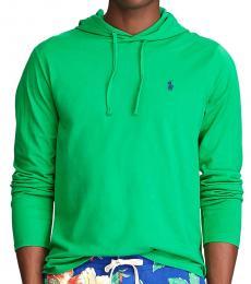 Ralph Lauren Bottle Green Jersey Hooded T-Shirt