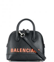 Balenciaga Black Ville Mini Satchel