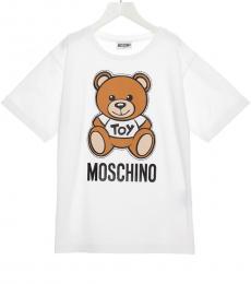 Moschino Boys White Teddy T-Shirt