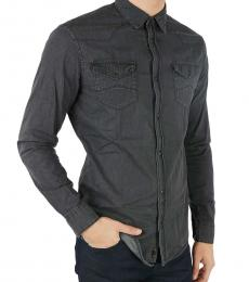 Armani Jeans Dark Grey Denim Shirt