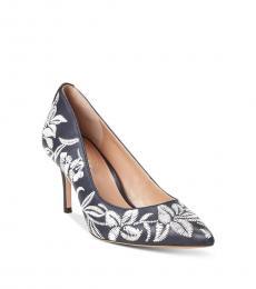 Ralph Lauren Navy Floral Lanette Heels