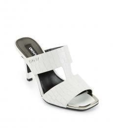 DKNY White Baz Dress Heels