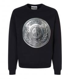 Moschino Black Graphic Logo Sweatshirt