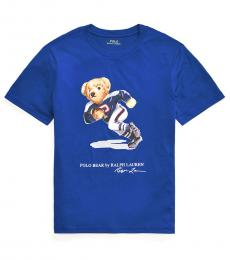 Ralph Lauren Boys Sistine Blue Football Bear T-Shirt