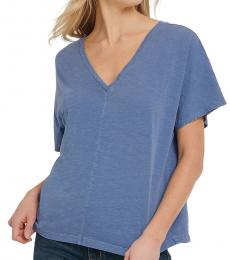Surplus Blue V-Neck Cotton Top