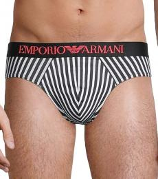 Emporio Armani Black 2-Pack Logo Hip Briefs