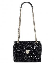 Kate Spade Black Sequin Small Shoulder Bag