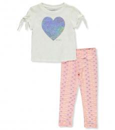 DKNY 2 Piece Top/Legging Set (Little Girls)