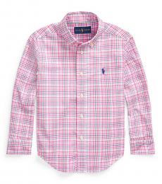 Ralph Lauren Little Boys Pink Plaid Poplin Shirt