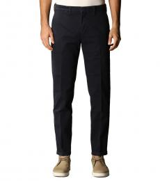 Fay Navy Blue Pocket Classic Trousers