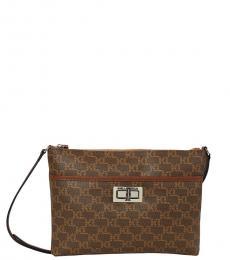 Dark Brown Agyness Small Crossbody Bag