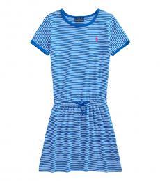 Ralph Lauren Girls Heritage Blue Jersey Tee Dress
