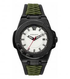 Versace Olive Black Signature Watch