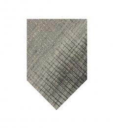 DKNY Grey Silver Light Check Tie