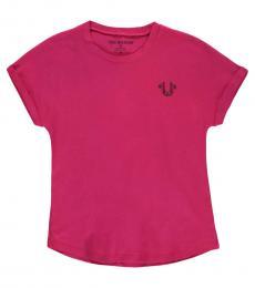 True Religion Little Girls Fuchsia Graphic T-Shirt