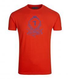 Orange Wired Logo Solid T-Shirt