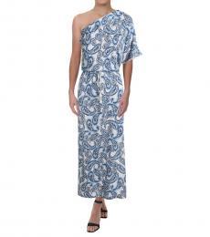 Ralph Lauren Blue One Shoulder Maxi Dress