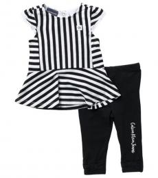 Calvin Klein 2 Piece Top/Leggings Set (Baby Girls)