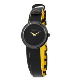 Versace Black-Yellow V-Flare Watch