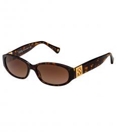 Coach Dark Tortoise Gradient Sunglasses