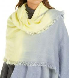 DKNY Yellow-Gray Ombre Two-Tone Scarf